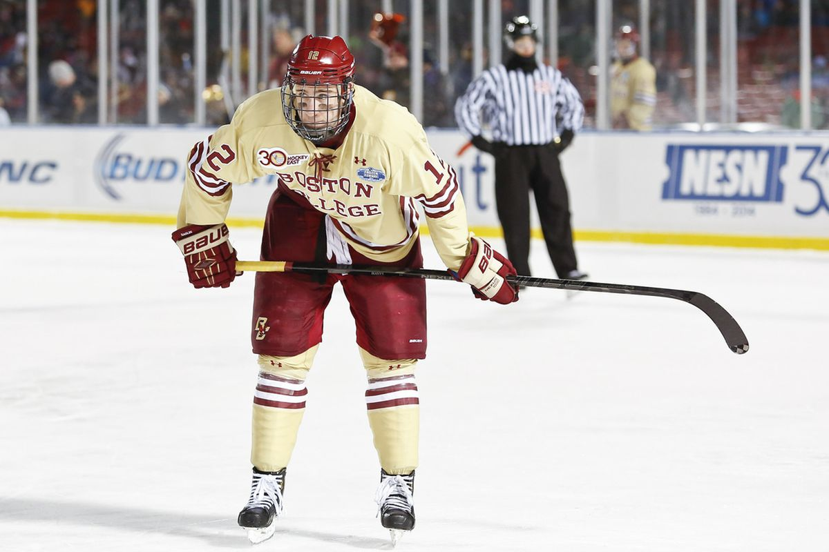 Kevin Hayes is the top prospect in college hockey this year