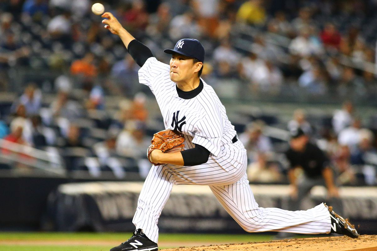 Masahiro Tanaka is on the mound for the Yankees tonight.