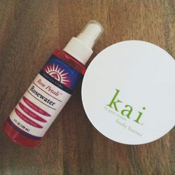 Sundays are my favorite day of the week. It's such a relaxing day and I like to spend it at home cooking, cleaning, and ahem, grooming. There are two products I can't live without. <b>Kai</b> body butter and rosewater (I get it at <b>Whole Foods</b>). I k