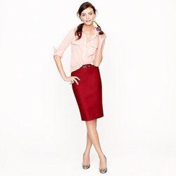 "<a href=""http://www.jcrew.com/womens_category/skirts/pencil/PRDOVR~59369/59369.jsp"">No. 2 Pencil Skirt</a>, $29.99 (was $110)"