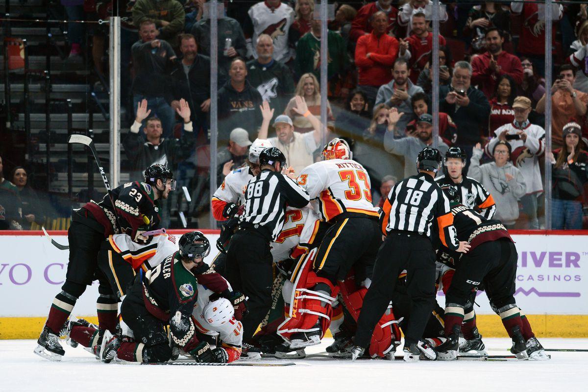 NHL: Calgary Flames at Arizona Coyotes