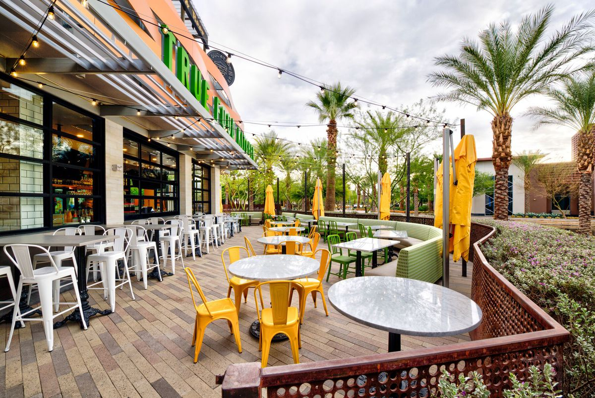 True Food Kitchen's patio at the Dining Arroyo section of Downtown Summerlin.