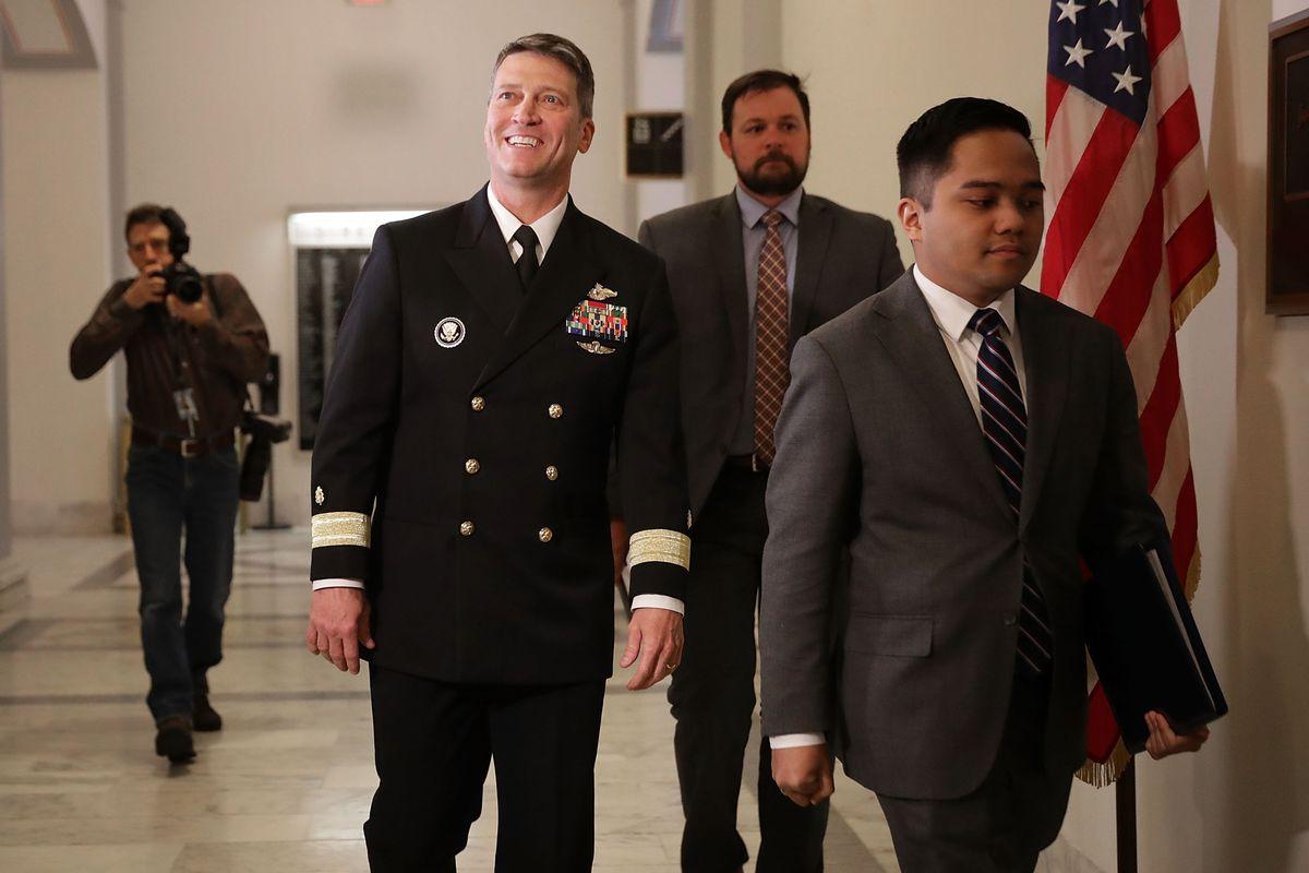 President Trump's Nominee To Be Veteran's Secretary Ronny Jackson Meets With Sen. Isakson On Capitol Hill