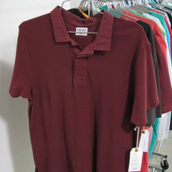 """Racked fave <a href=""""http://grover.us/"""">Grover</a> offered a range of 17 colors of this contrast collar cotton polo shirt."""