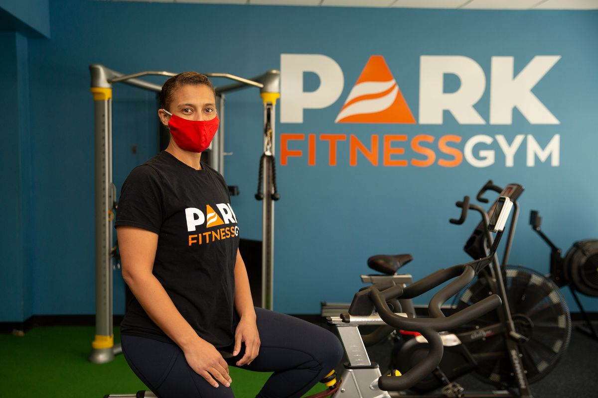 Janine Labriola, owner of Park Fitness Gym in Brooklyn, struggled to stay open during the pandemic. Feb. 10, 2021.