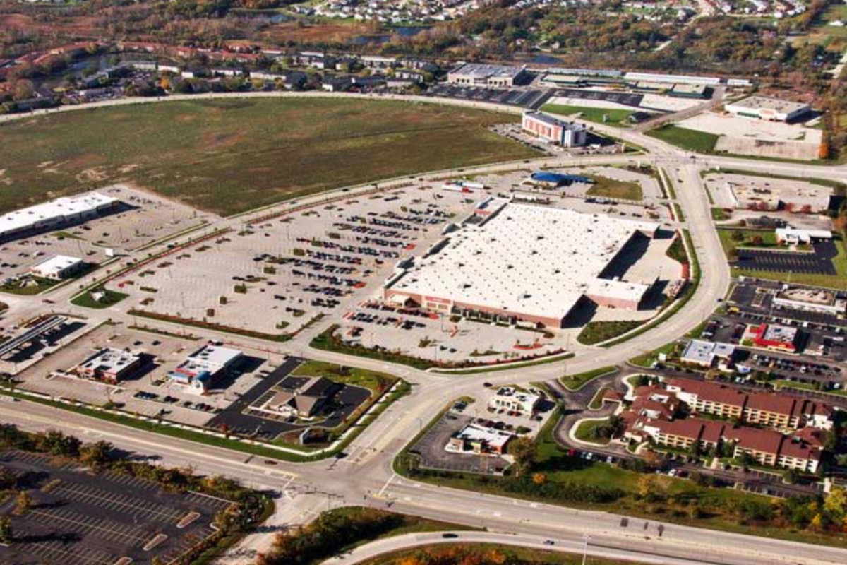 Aerial view of the Fountain Square site that could soon be home to a casino in Waukegan. Provided by the City of Waukegan