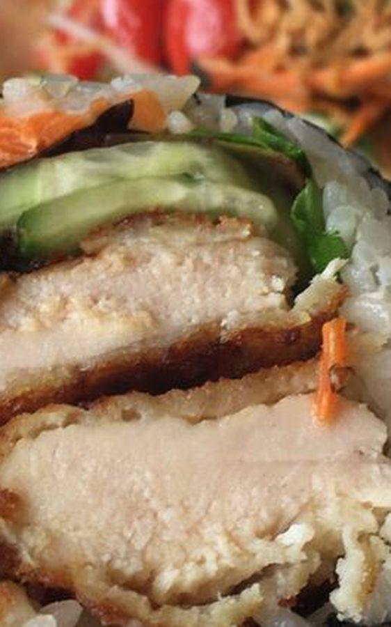 Chicken katsu sushiritto at District Kitchen