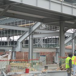 Another view under the left field bleachers -