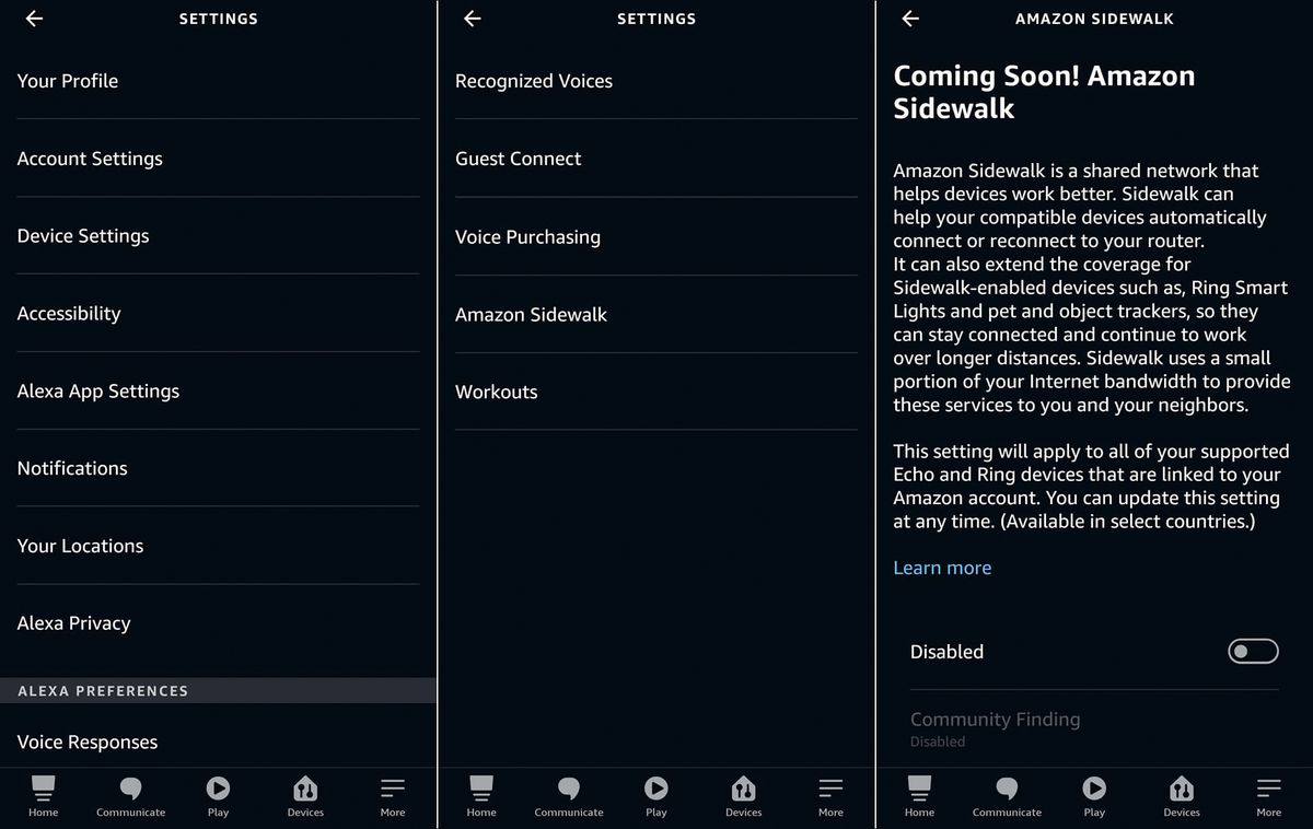 Amazon Sidewalk: How to opt out on your Echo or Tile devices in your phone settings