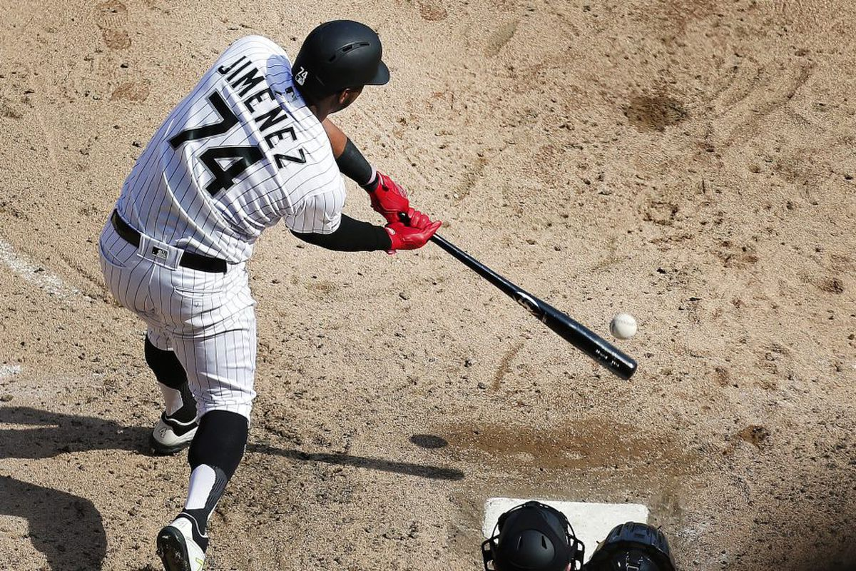 huge selection of a6633 2838a Not to worry: White Sox OF Eloy Jimenez is probably more ...
