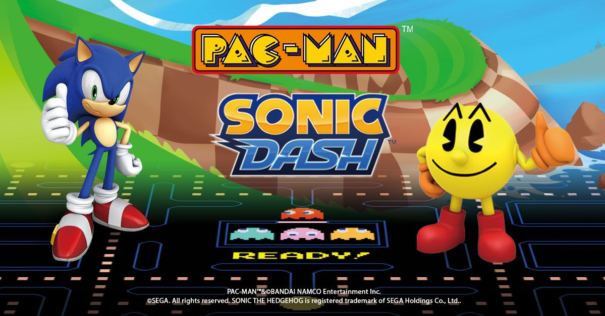 Sonic Pac Man cross over to each others mobile apps