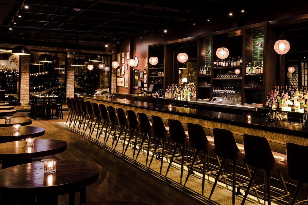 A large and dark bar