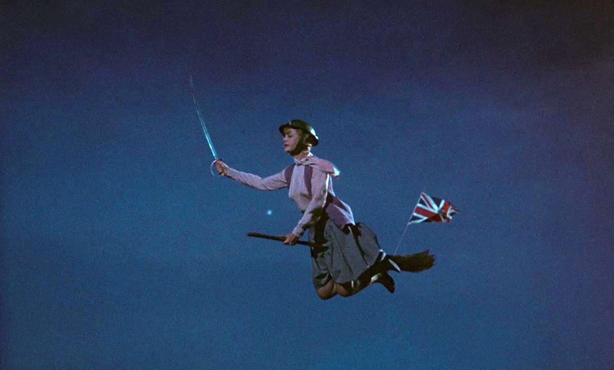 angela lansbury in bedknobs and broomsticks war scene