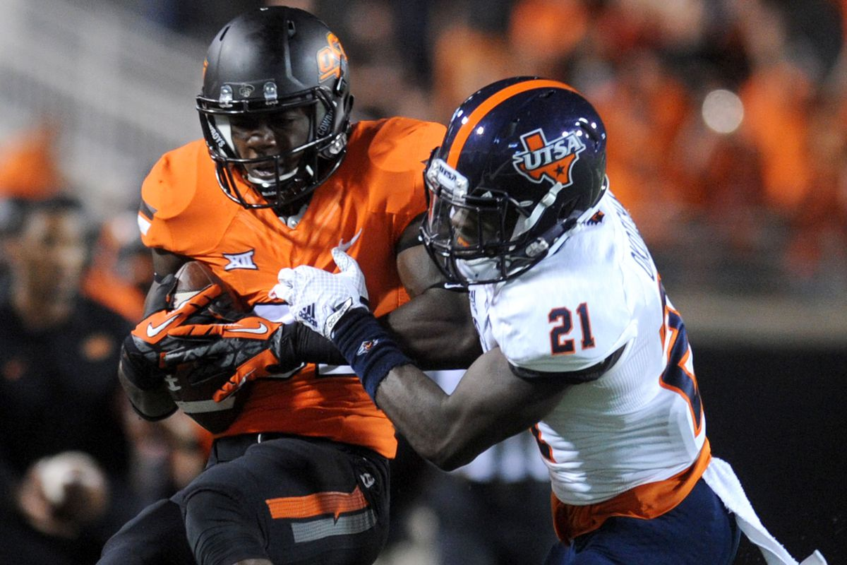UTSA cornerback Bennett Okotcha will seek to avenge a disappointing performance against Oklahoma State in 2014