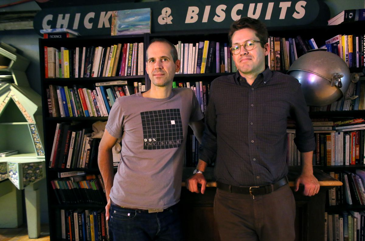 Alex Blumberg and Matt Lieber, co-founders of StartUp. (Yana Paskova/For The Washington Post via Getty Images)