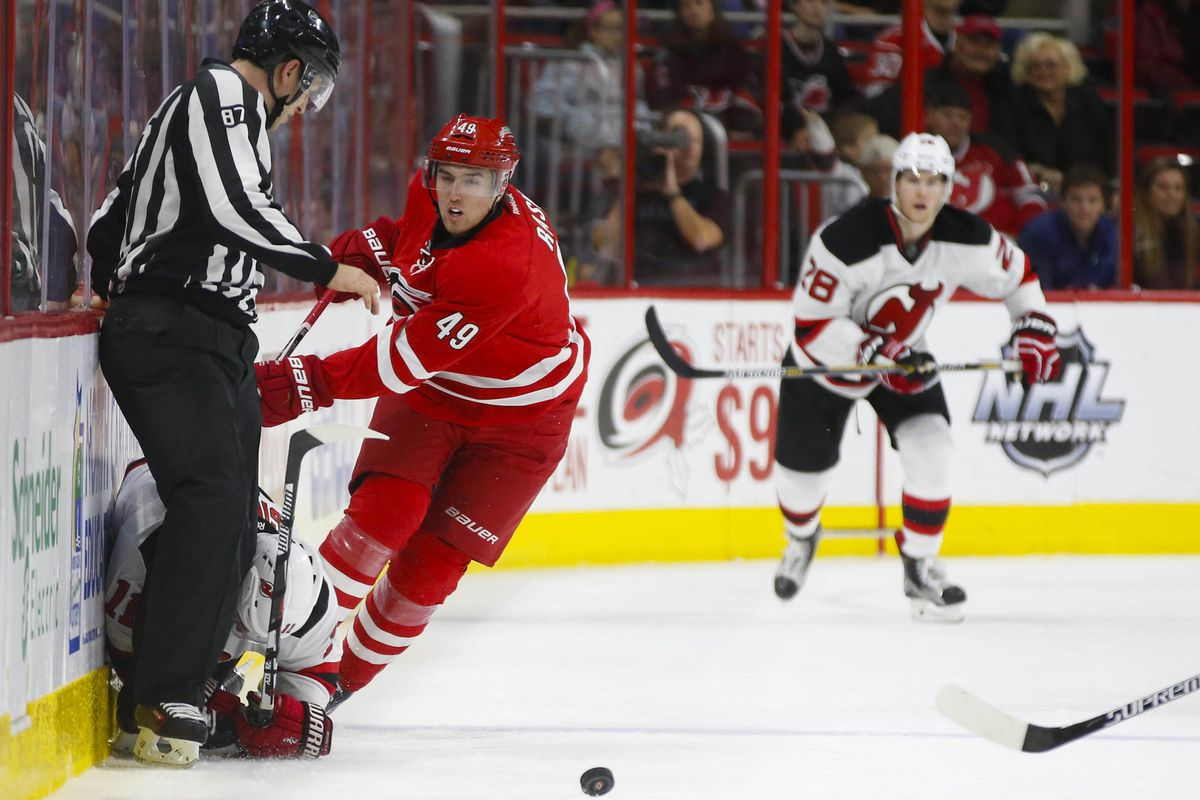 The Canes appeared to have run over the Devils in their last meeting. Several times metaphorically, a few times literally.
