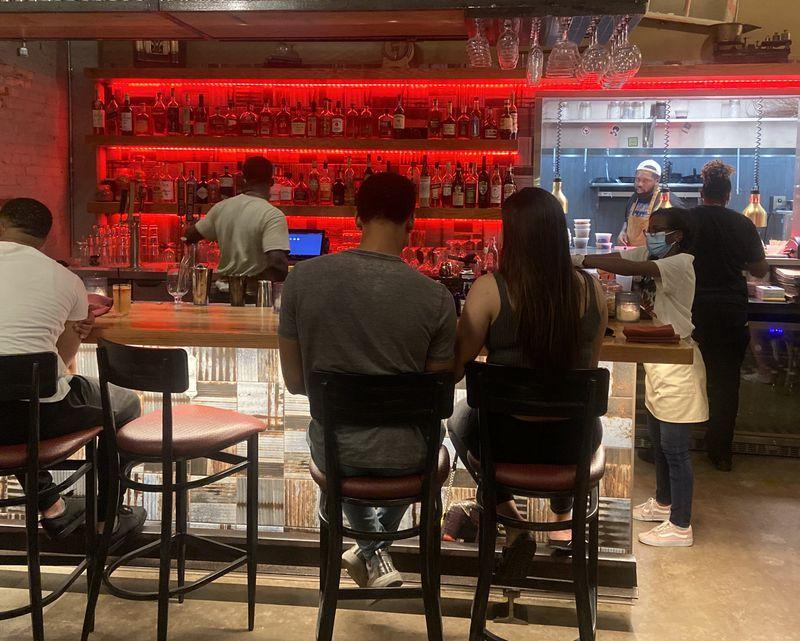 The bar at Leah & Louise