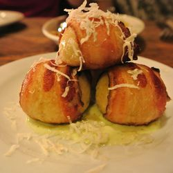 """Bacon Wrapped Matzoh Balls from The Gorbals by <a href=""""http://www.flickr.com/photos/polsia/8059808628/in/pool-eater"""">Polsia</a>"""