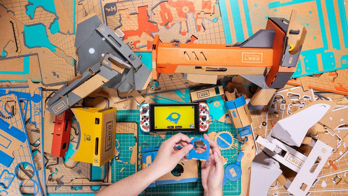Nintendo Labo VR Kit - overhead photo of assembly