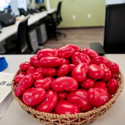 Kidney-shaped stress balls are displayed at the grand opening of the Intermountain Kidney Care Center at Intermountain Medical Center in Murray on Thursday, Sept. 5, 2019.