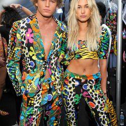 Ridiculously good-looking humans Jordan Barrett and Hailey Baldwin.