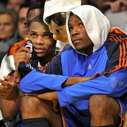 Nobody saw the elf join Durant and Westbrook's private discussion