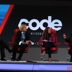 """Kara Swisher with <strong>Aileen Lee</strong>, managing partner of Cowboy Ventures; <strong>Sukhinder Singh Cassidy,</strong>founder and CEO of Boardlist; <strong>Megan Smith,</strong>the former Chief Technology Officer of the U.S. and now the founder of Shift7 on stage for a conversation on how leading women in Silicon Valley think tech can fix its gender diversity problem. Watch the full <a href=""""https://www.recode.net/2018/5/30/17386728/aileen-lee-cowboy-ventures-sukhinder-singh-cassidy-megan-smith-code-conference-interview"""">interview</a>."""