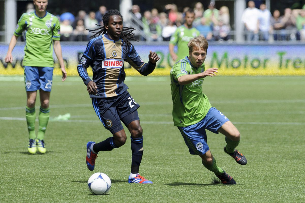 Adam Johansson has become a vital part of the Sounders attack.  (Photo: Steven Bisig-US PRESSWIRE)