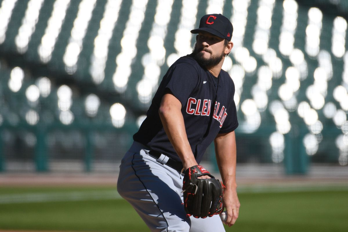 Cleveland Indians relief pitcher Brad Hand (33) during the game against the Detroit Tigers at Comerica Park.