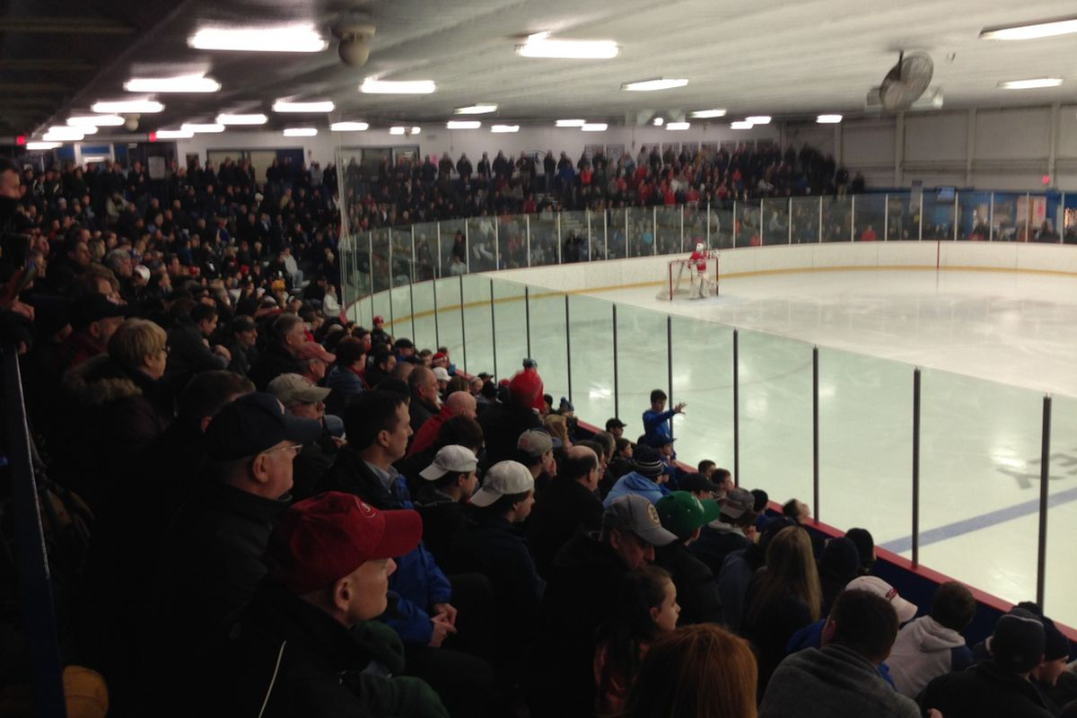 The scene at Stoneham Arena in last year's Super 8 play-in games.