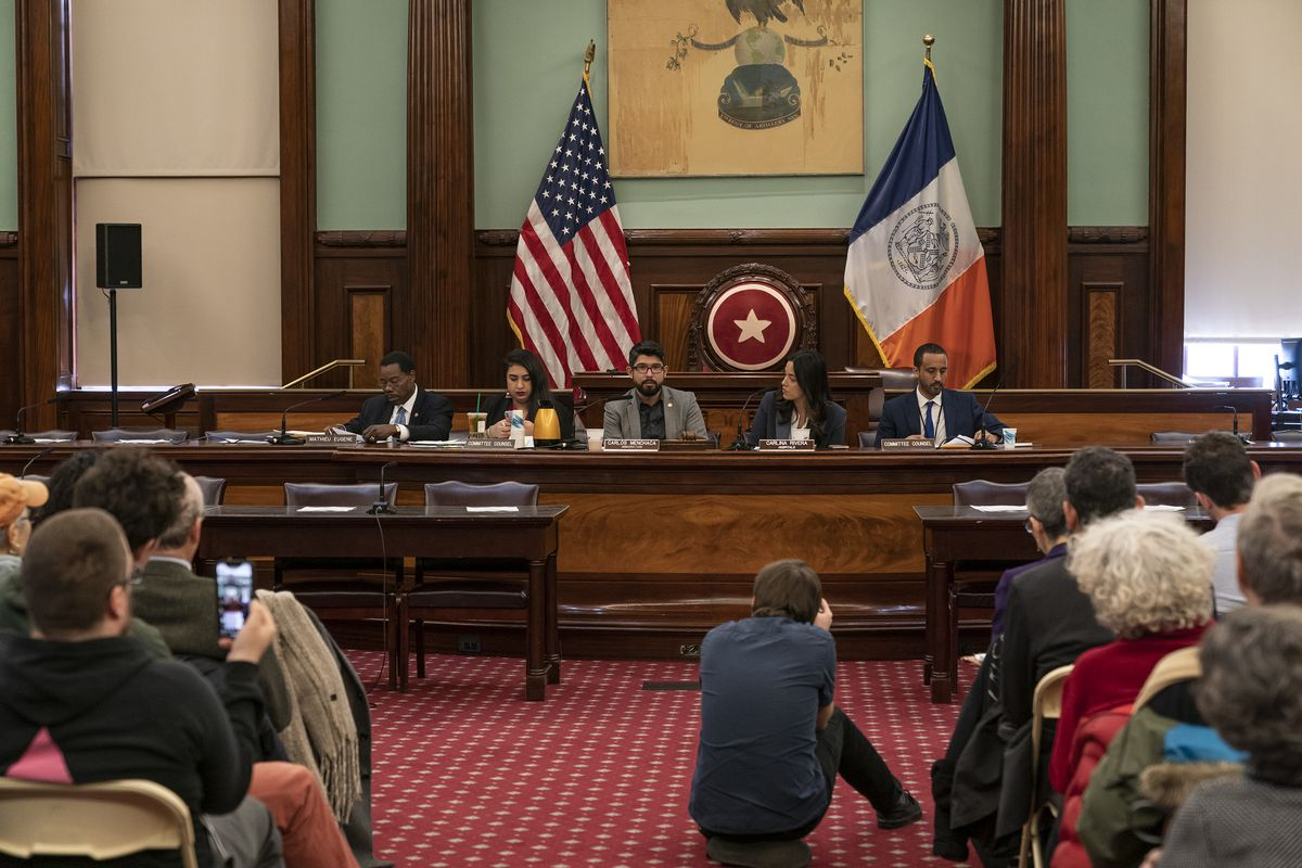 City Council hearing on ICE escalating immigration...