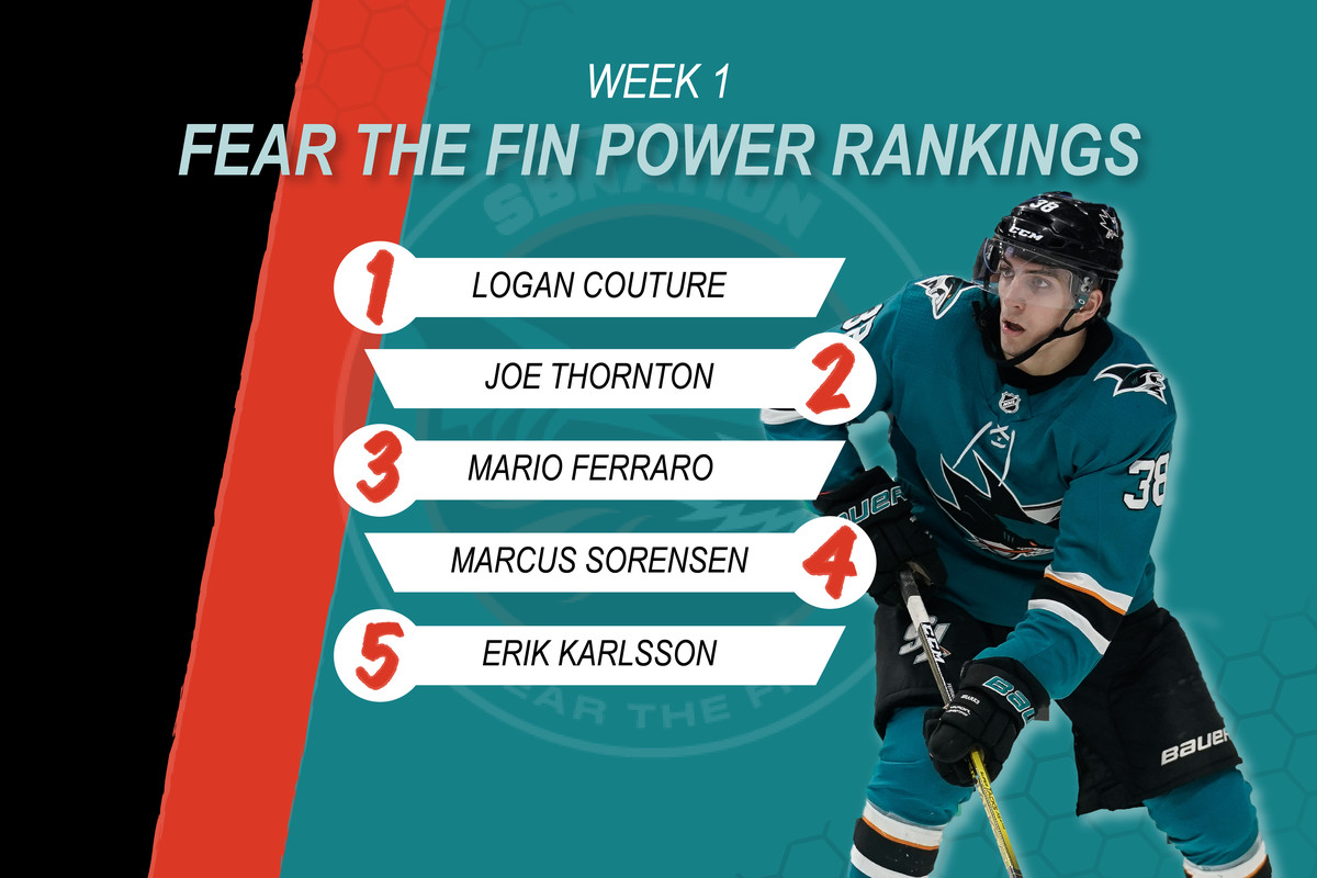 San Jose Sharks Player Power Rankings Week 1: Sitting at the kids table
