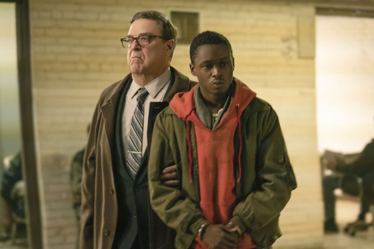 John Goodman with Ashton Sanders in tow in Captive State.
