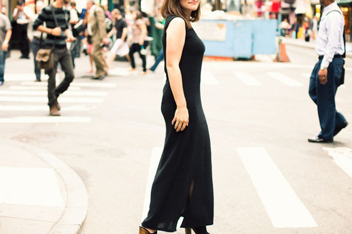 """Image via <a href=""""http://ofakind.com/editions/1013-SCOOP-NECK-SWEATER-MAXI"""">Of a Kind</a>"""