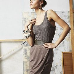 Tulip Wrap Pleated Faux Leather Skirt, $55.00