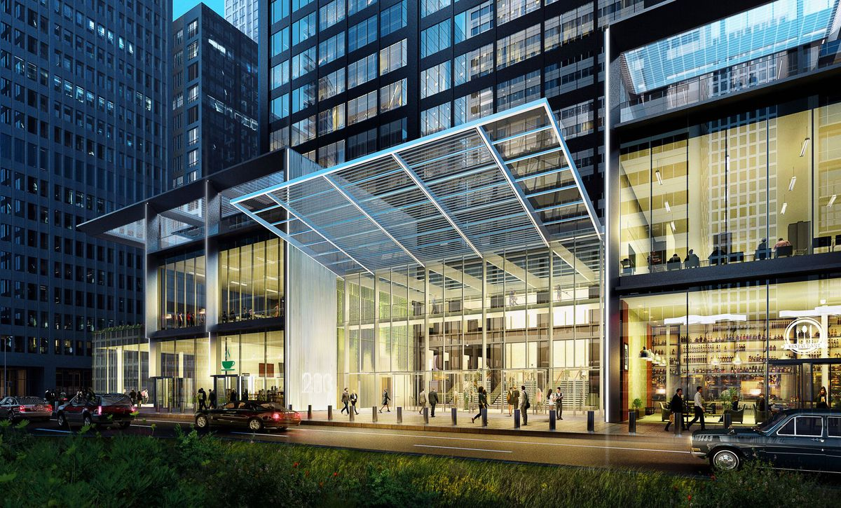 Wacker Drive entry   Rendering provided by Tricia Maharaj, Equity Office