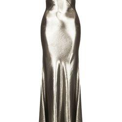 LAMÉ BIAS CUT MAXI DRESS, $590
