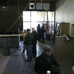 Dining looking into brewing area