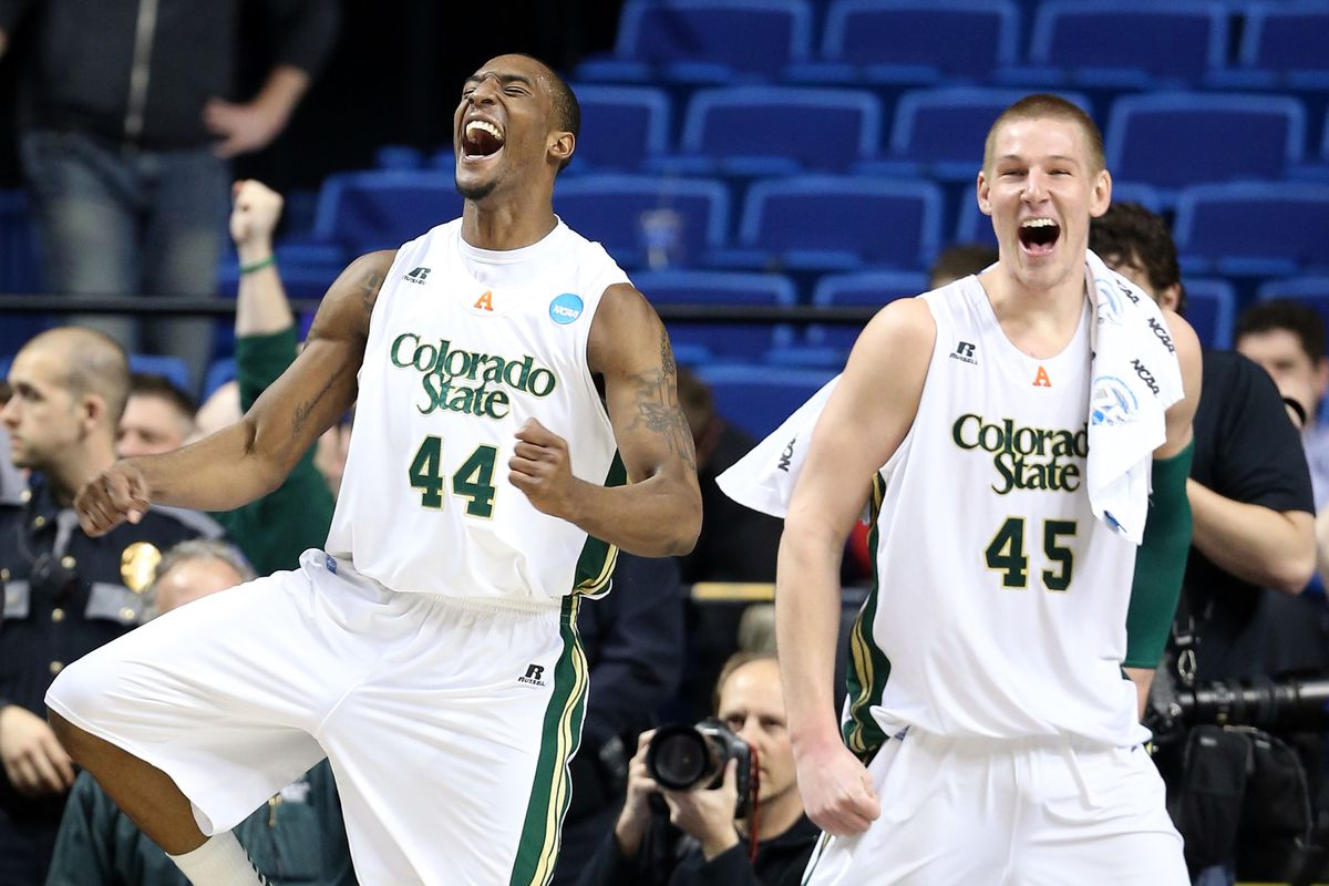 Greg Smith and Colton Iverson teammates at CSU to workout for Nuggets.