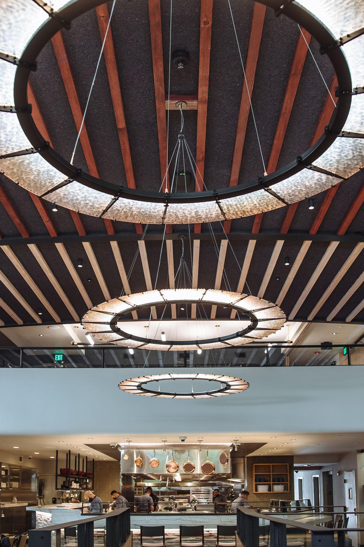Architectural details of the Matheson, which opened in a historic building that's been renovated