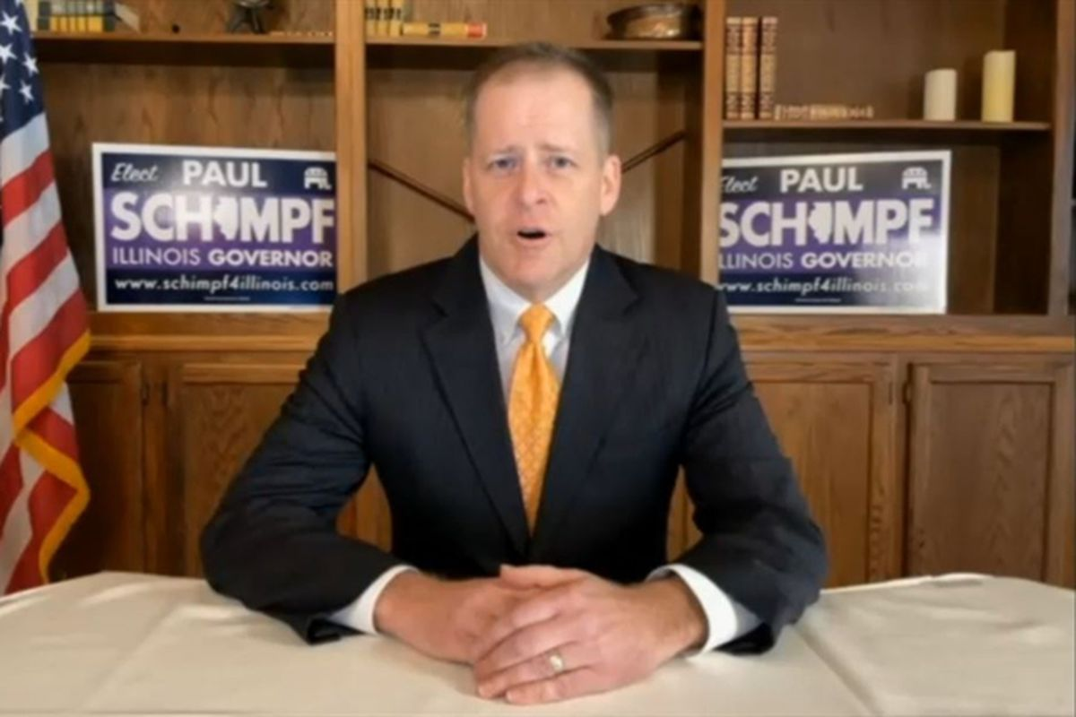 Paul Schimpf, a former Republican state senator, announcing his bid for governor in February.