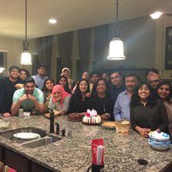 Dania Khan and her family.