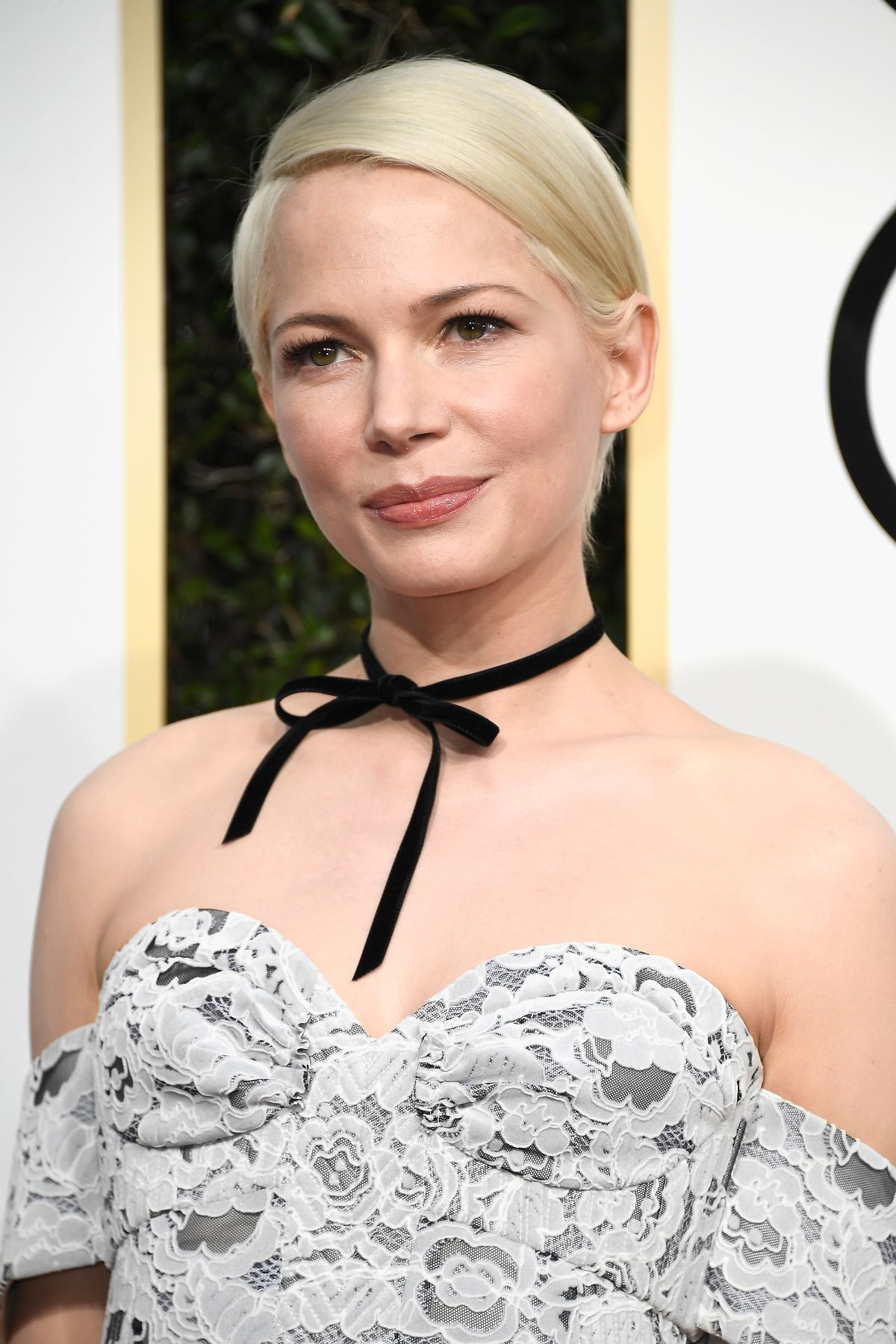 Michelle Williams closeup at the Golden Globes