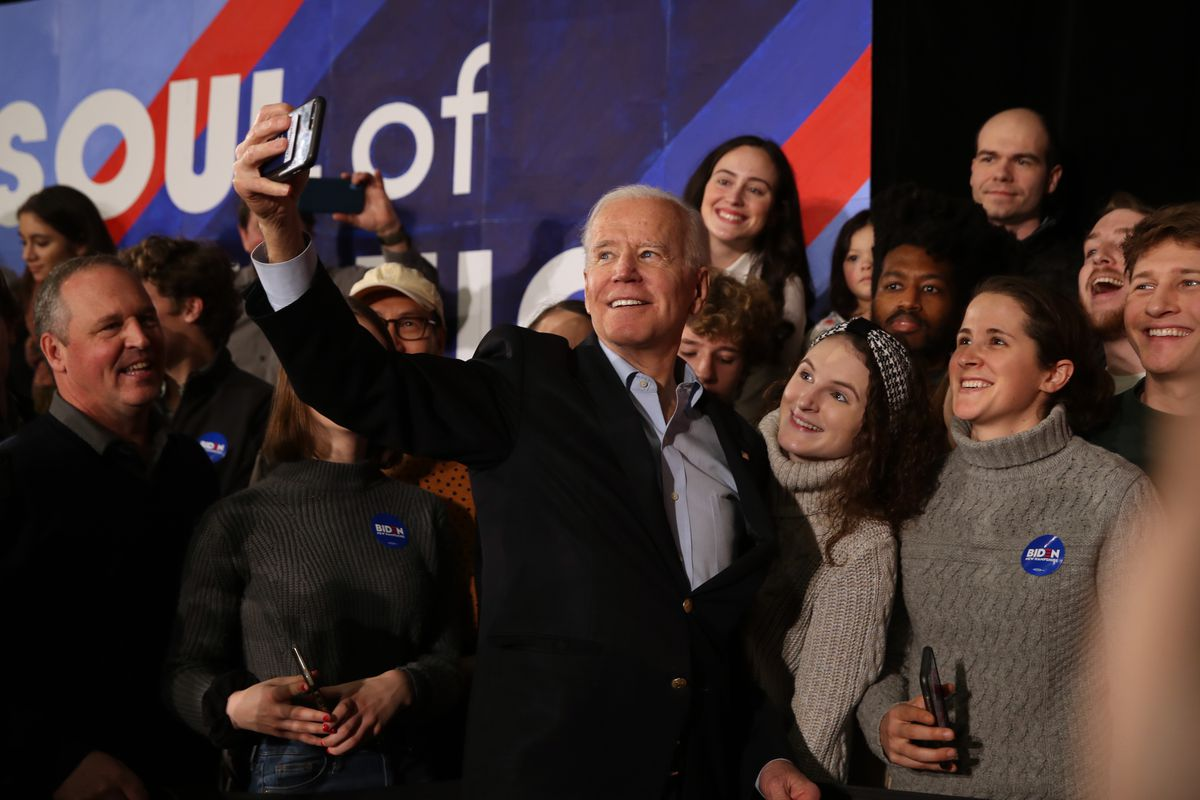 Presidential Candidate Joe Biden Campaigns In New Hampshire Ahead Of Primary