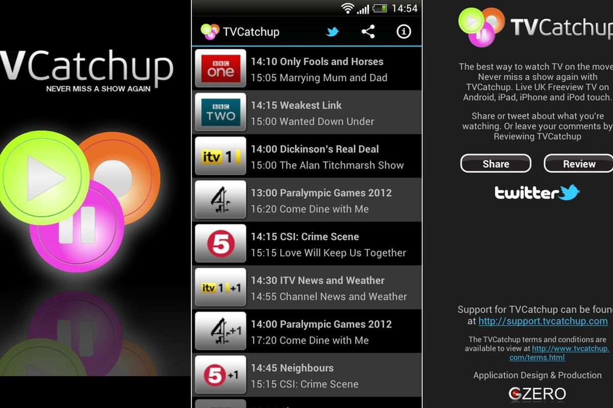 Tvcatchup mobile android download.