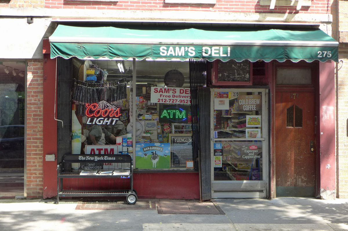 Sam's is one of the few delis remaining in the West Village.