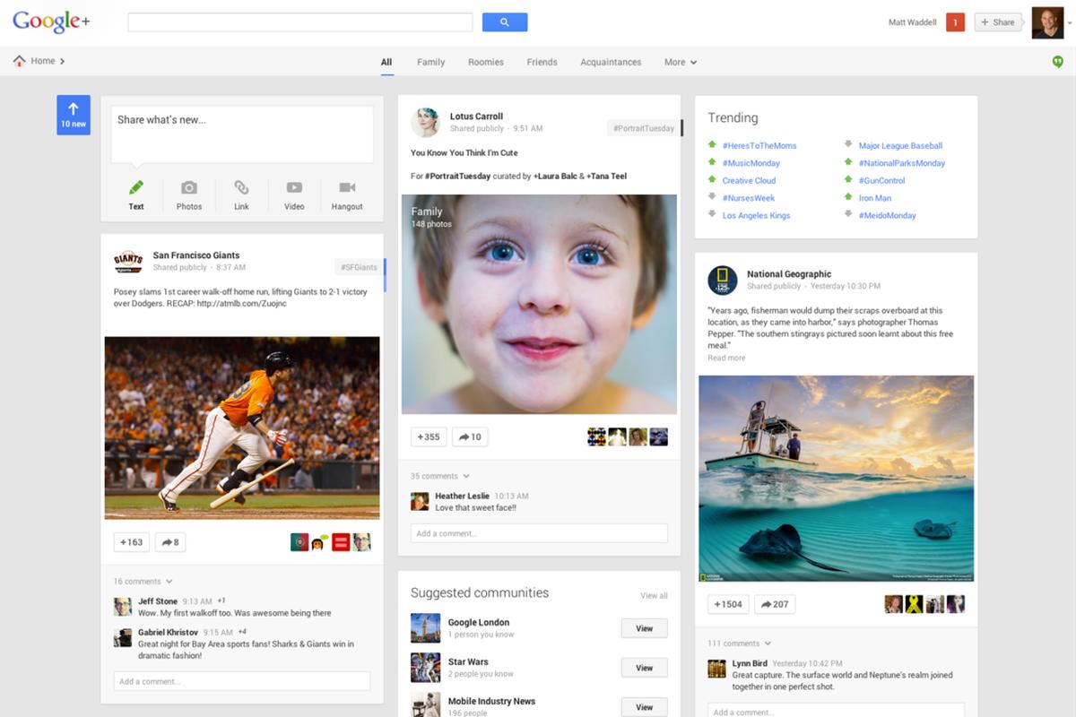 Google+ Stream redesign press