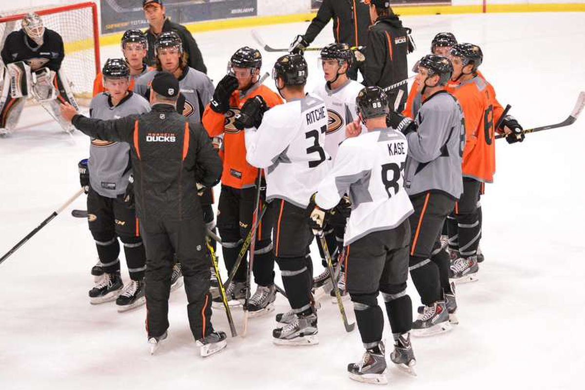Ducks prospects work with the Anaheim coaching staff on July 2nd of the 2015 Summer Development Camp.