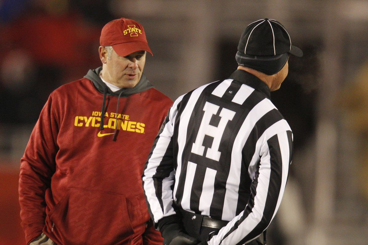 Officals: the bane of Paul Rhoads's existence.