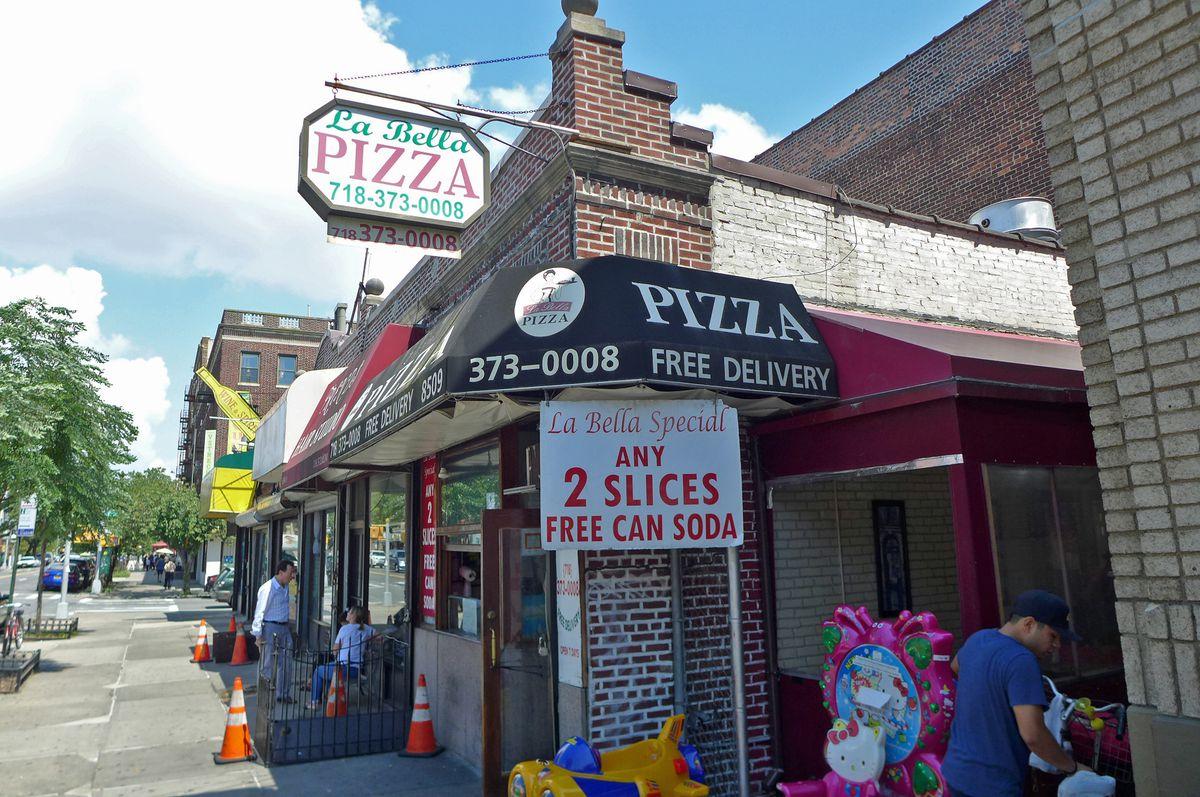 Exterior of La Bella pizzeria...